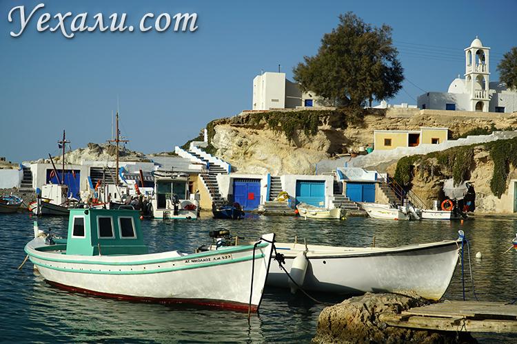 Фото лодок в Мандракии