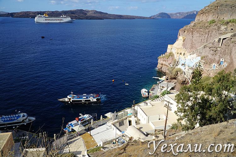 Самые красивые фото города Фира на Санторини, Греция: вид на Кальдеру вулкана.