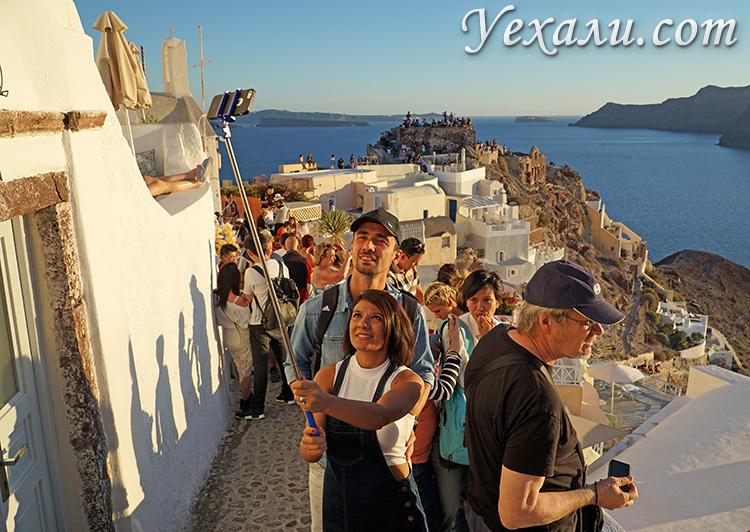 Фото города Ойя на Санторини, Греция.