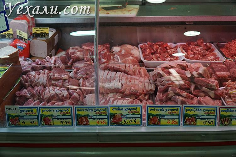 Мясо в Греции цена