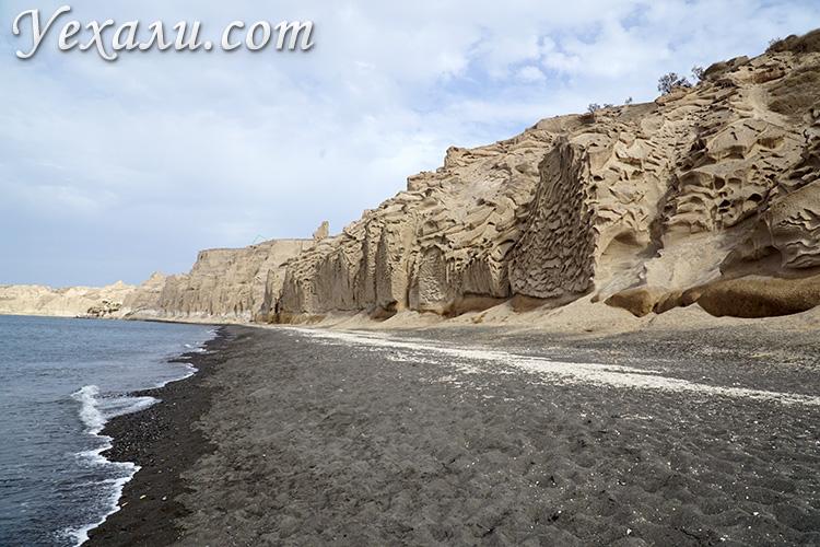 Черные пляжи Санторини, Греция: Влихада.