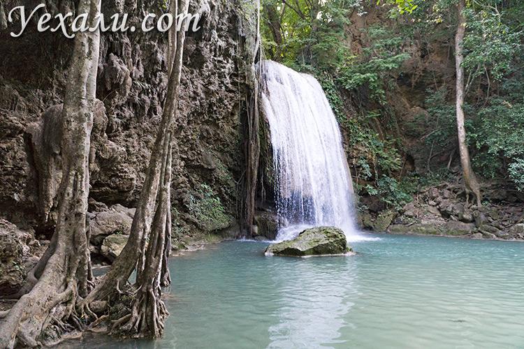 Водопад Эраван в Таиланде, третий уровень.