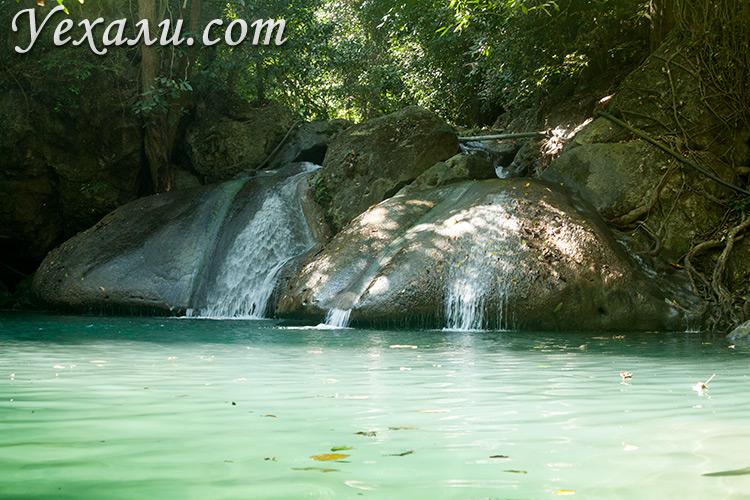 Фото водопада Эраван (Канчанабури, Тайланд). Уровень 4.