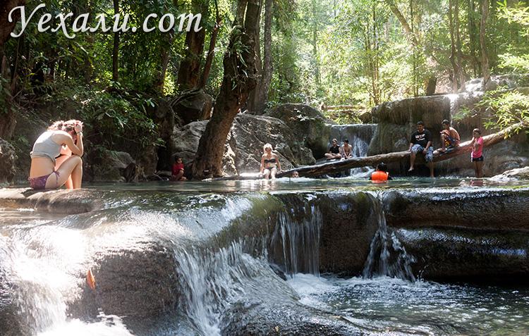 Фото водопада Эраван (экскурсия на реку Квай, Таиланд). Уровень 5.