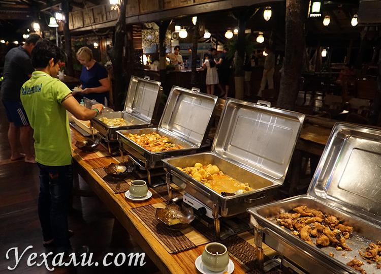 Ужин в отеле на экскурсии на Квай