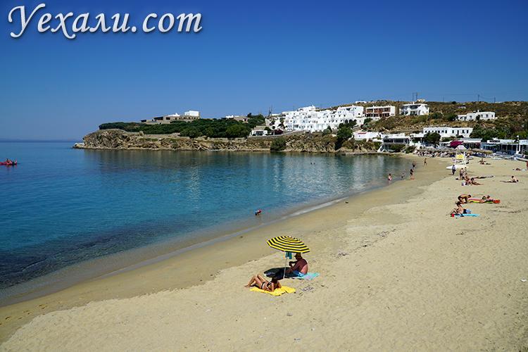 Пляж Агиос Стефанос на Миконосе фото