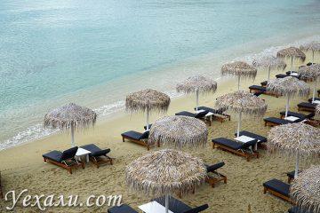 Пляж Плати Гиало на Миконосе