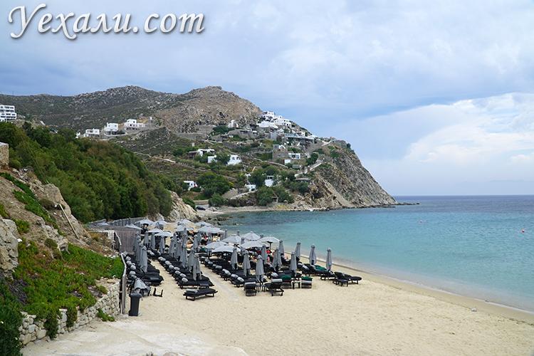 Гетеросексуальная часть пляжа Элия на Миконосе