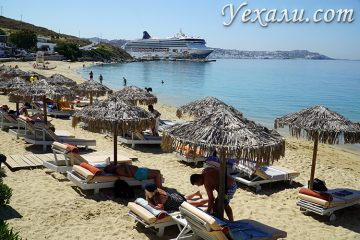 Пляж Агиос Стефанос на Миконосе