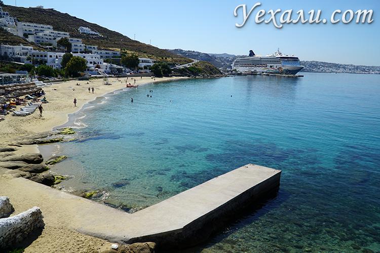 Пляж Агиос Стефанос на Миконосе фото и отзывы
