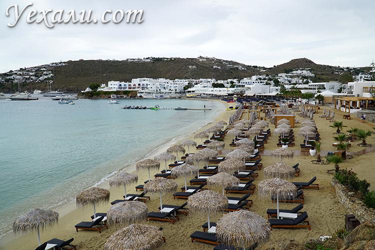 Миконос, пляж Плати Гиалос