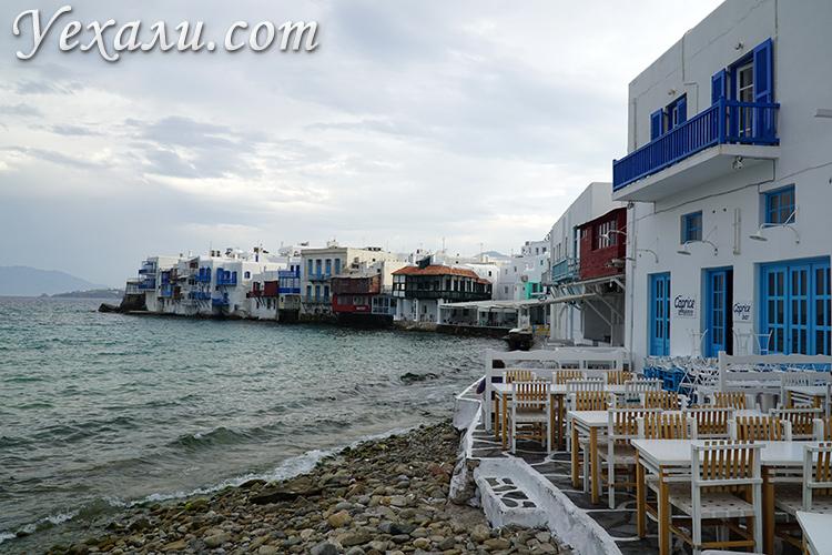 Маленькая Венеция, Миконос, Греция.