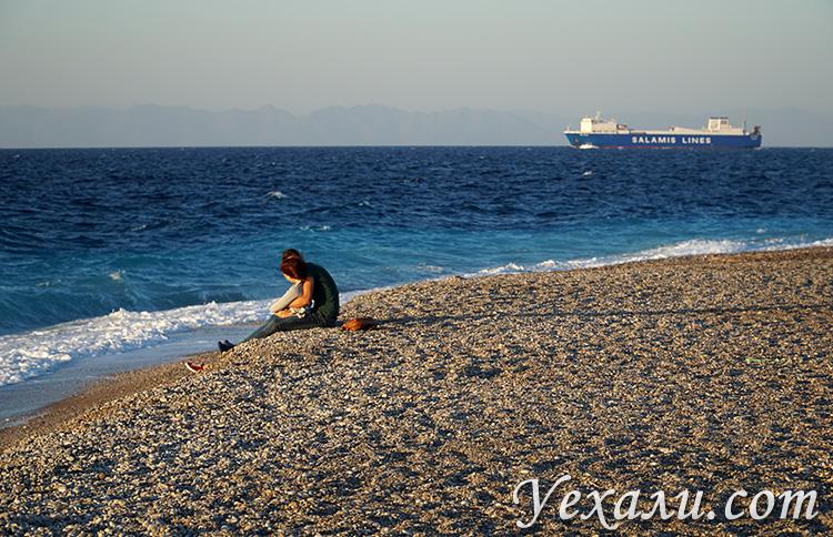 Самые красивые фото города Родос, Греция: городской пляж Родоса.