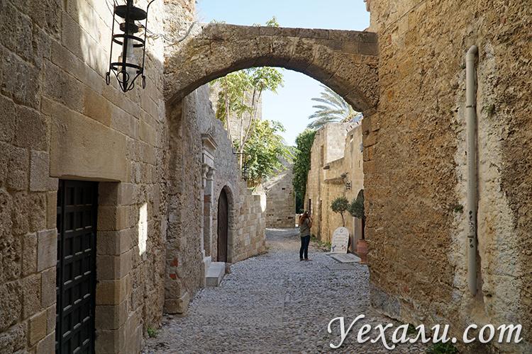 Уютные улочки города Родос.