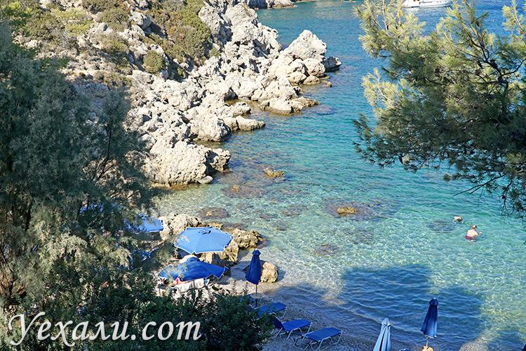 Самые красивые фото острова Родос, Греция: бухта Энтони Куинна.