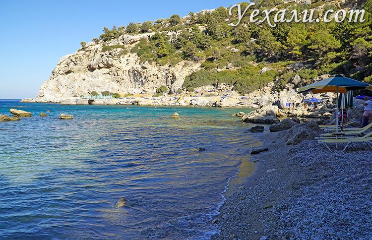 Самые красивые бухты Родоса, Греция. На фото: бухта Энтони Куинна.