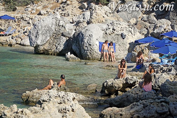 Бухта Энтони Куина, Родос, Греция.