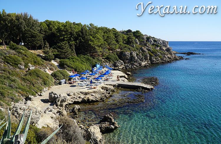 Бухта Ладико, остров Родос, Греция.