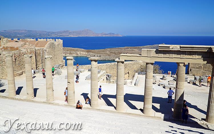 Самые красивые фото острова Родос, Греция: акрополь Линдоса.