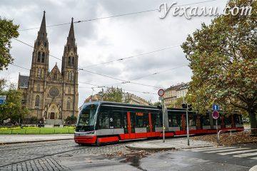 Прага, костел святой Людмилы.