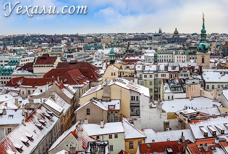 Староместская ратуша в Праге, смотровая площадка.