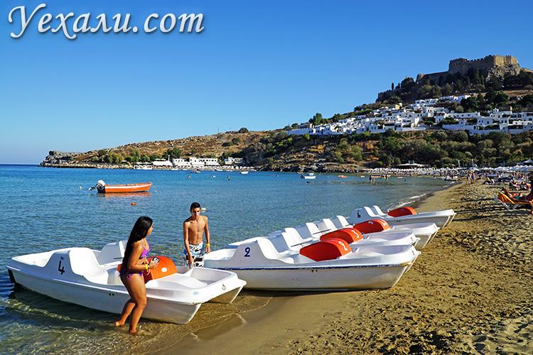 Цены на Родосе, Греция: пляжные развлечения