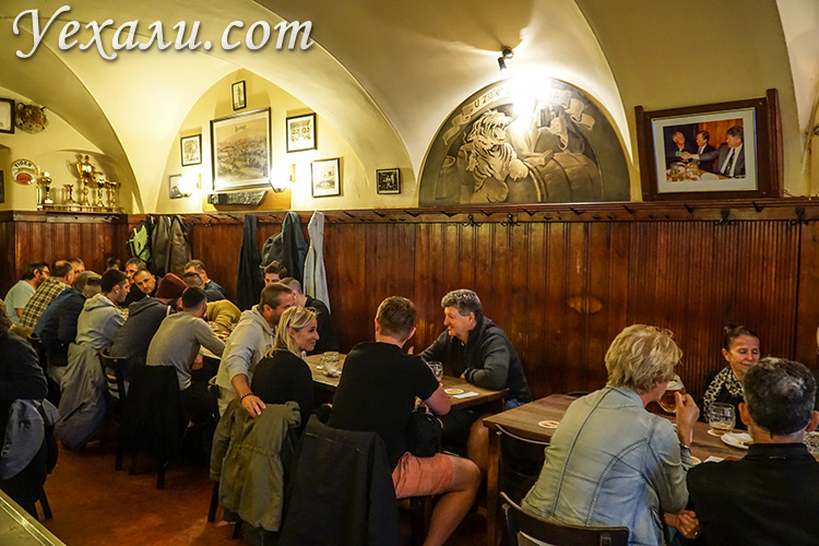 "Фото пивного ресторана ""У Золотого Тигра"" (Прага, Чехия)."