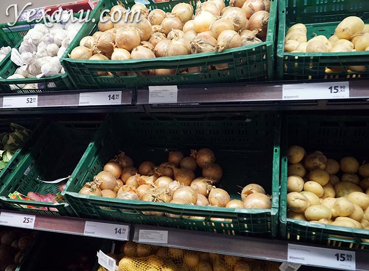 Цены на фрукты и овощи в Праге
