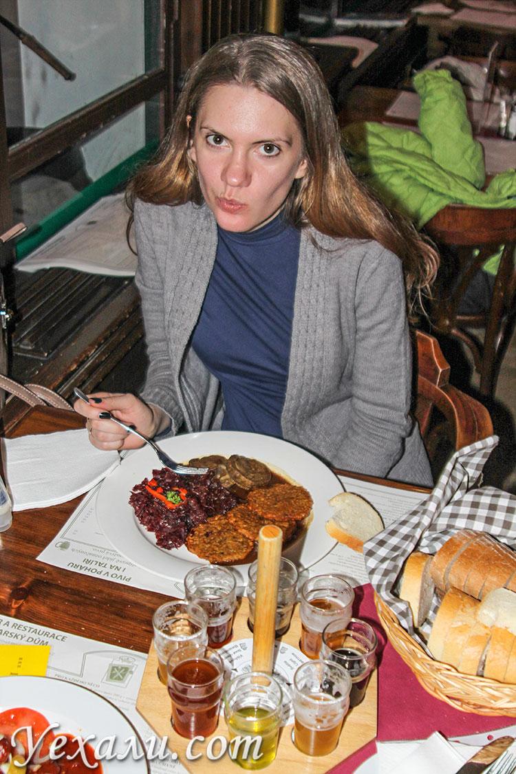 """Пивной ресторан """"Пивоварский дом"""", Прага, Чехия."""