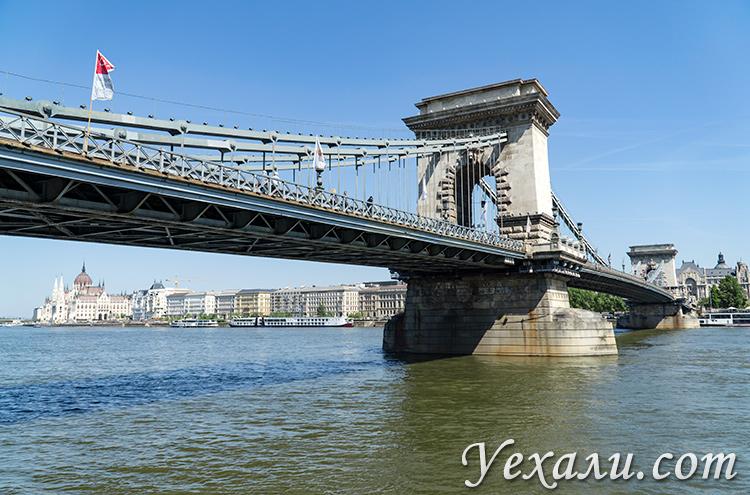 Путеводитель по Будапешту. На фото: цепной мост Сечени и здание венгерского парламента.