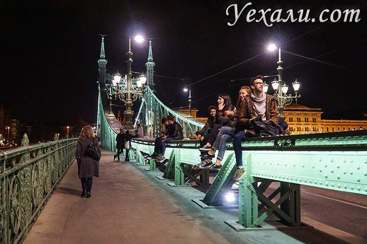 Фото ночного Будапешта. Мост Свободы.
