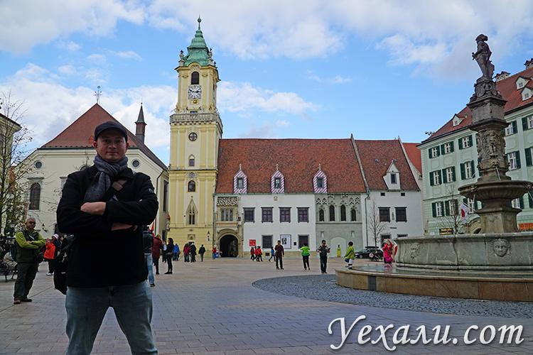 Что посмотреть в Братиславе самостоятельно. На фото: Главная площадь Братиславы.