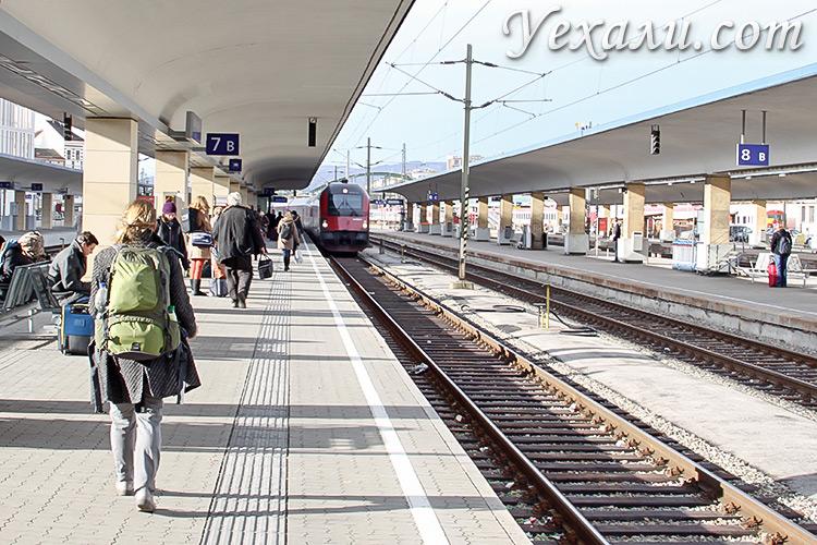 Как добраться до Будапешта из Вены. На фото: Главный вокзал Вены.
