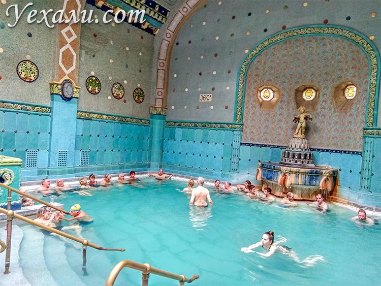 Фото купальни Геллерт в Будапеште, Венгрия