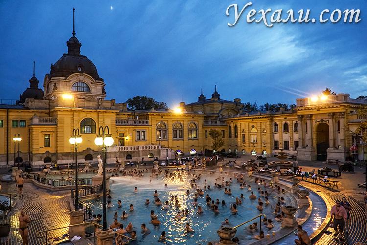 Фото купальни Сечени в Будапеште, Венгрия.