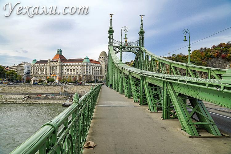 Где лучше остановиться в Будапеште. На фото: район Уйбуда (Мост Свободы и купальни Геллерт).