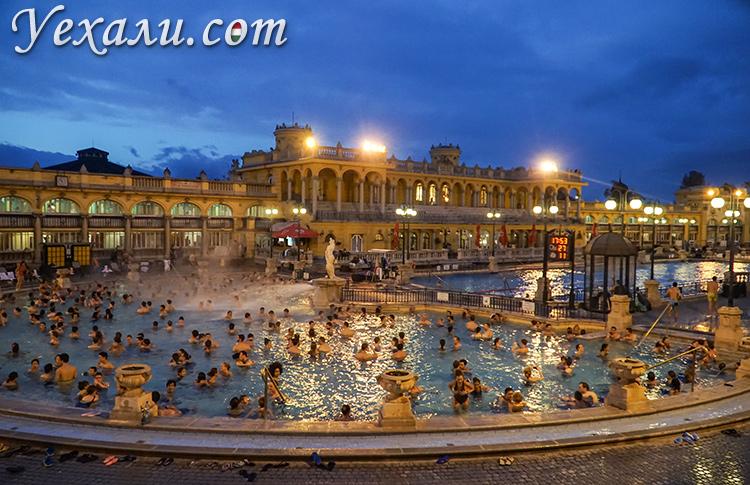 Лучшие термальные купальни Будапешта. На фото: купальня Сечени.