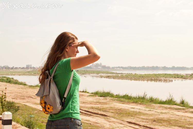 Вьентьян, река Меконг в центре города