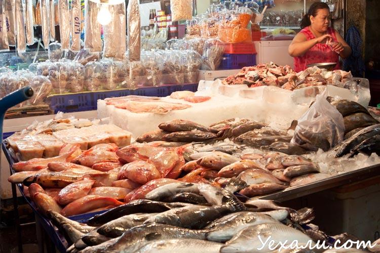 Север Паттайи, рыбный рынок