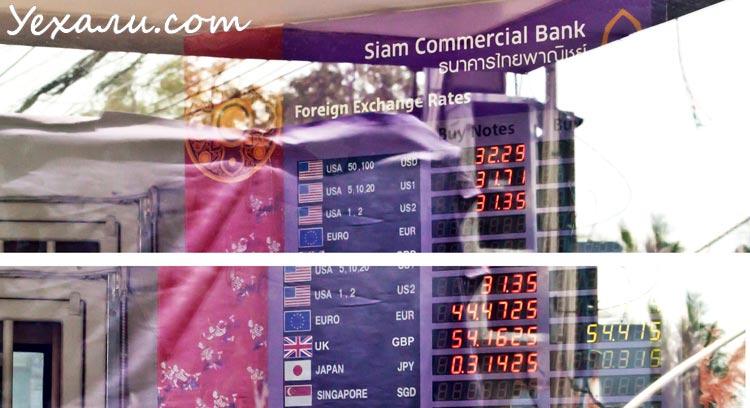 Курсы валют в банке Siam Commercial Bank (SCB)
