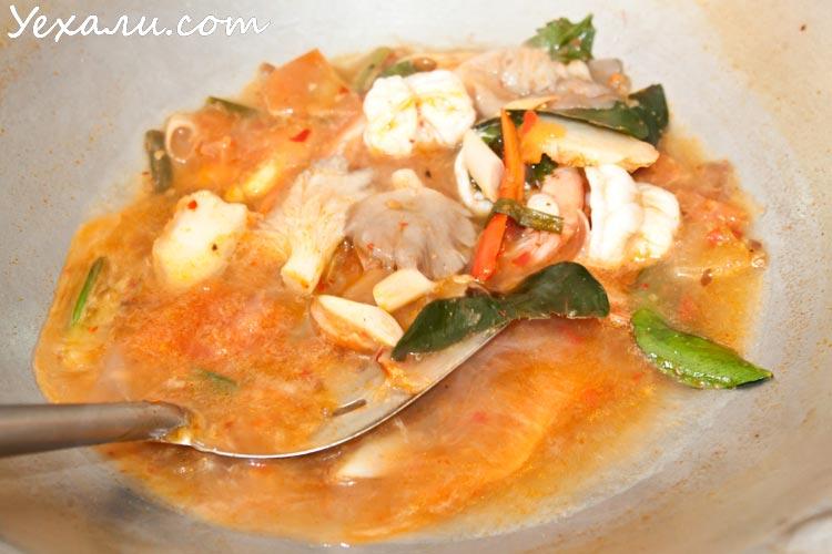 Рецепт тайского супа Том ям