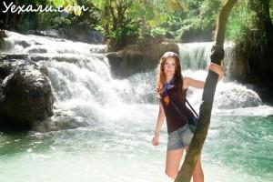 Отдых в Лаосе: водопад Куанг Си