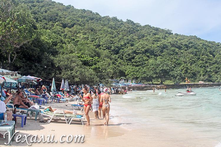 Лучший пляж острова Ко Лан - Сангван Бич.