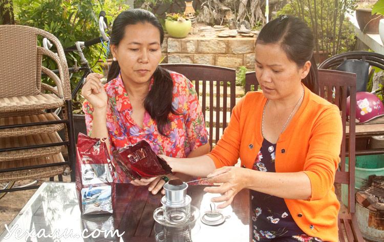 Заваривание вьетнамского кофе