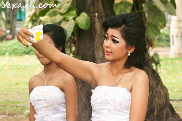 Самостоятельно в Камбоджу : камбоджийские девушки
