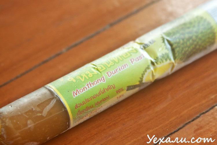 Экзотическая еда из магазина Теско Лотус в Паттайе: дуриановая паста