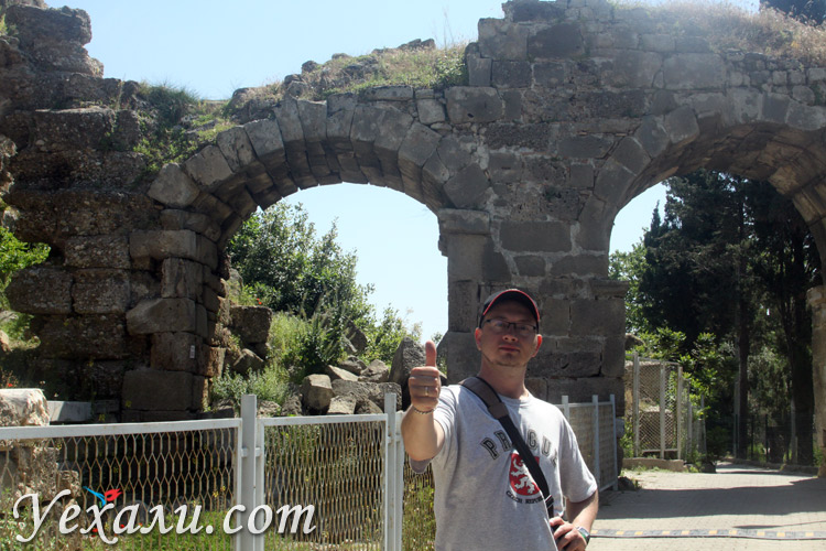 Город Сиде в Турции