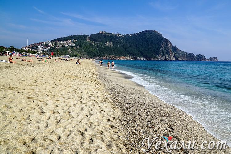 Обстановка в Турции для туристов сегодня: пустой пляж Клеопатры в Алании.