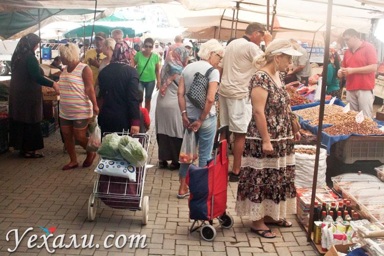 Цены в Турции на продукты: вторничный рынок Махмутлара.