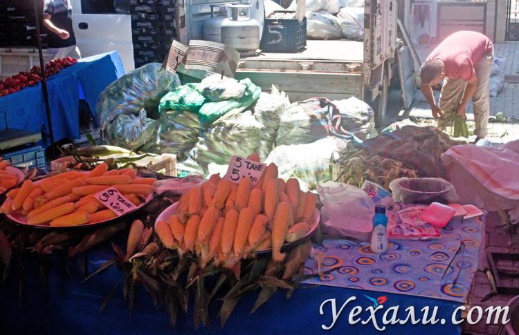 Цены в Турции на еду: вторничный рынок Махмутлара.